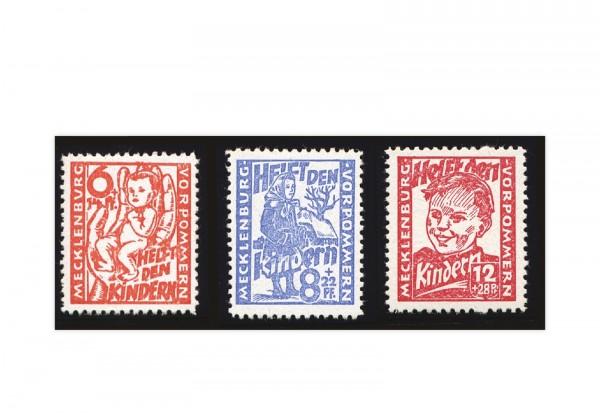 Sowjetische Besatzungszone Mi.Nr. 26/28 gestempelt