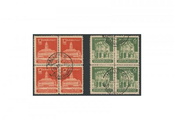 Briefmarken SBZ Wiederaufbau 1946 Michel-Nr. 64/65 gestempelt VB