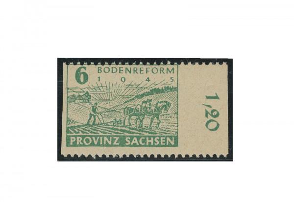 Briefmarke SBZ Provinz Sachsen Bodenreform 1945 Michel-Nr. 85 wb B postfrisch Fotoattest