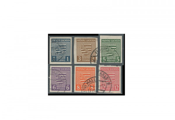 Briefmarken SBZ Mi.Nr. 66X/71X gestempelt