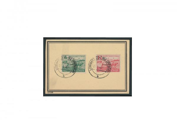 Briefmarken SBZ Bodenreform 1945 Michel-Nr. 85-86 A gestempelt
