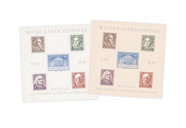 Briefmarken SBZ Weimar 1946 Block 3 A/B postfrisch