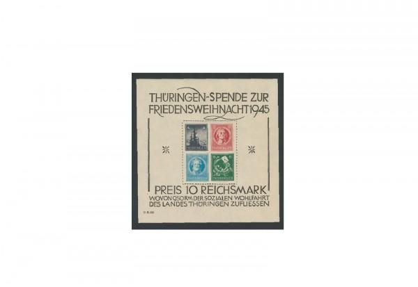Briefmarken Sowjetische Besatzungszone Weihnacht 1945 Block 2 x postfrisch