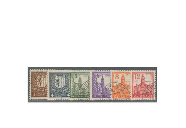 SBZ Michel-Nr. 150/155 Y gestempelt