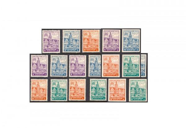 Briefmarken SBZ Westsachsen Messe 1946 Michel-Nr. 162/165 postfrisch