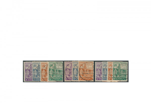 Briefmarken SBZ Leipziger Herbstmesse 1946 Michel-Nr. 162-165 AX, AY, AZ gestempelt