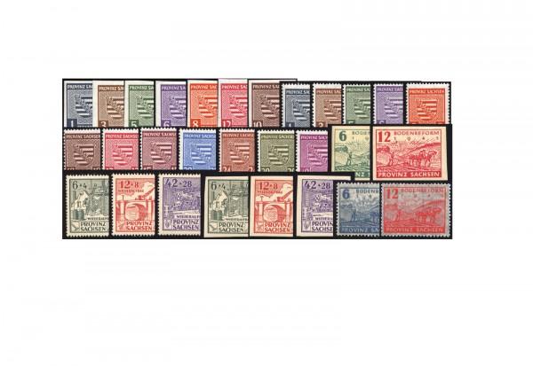 SBZ Provinz Sachsen 1945/6 komplett Michel Nr. 66-91 inkl. 80 X postfrisch