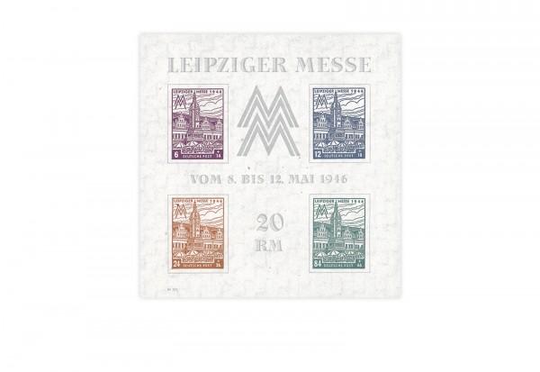 SBZ Block 5 X postfrisch Leipziger Messe 1946