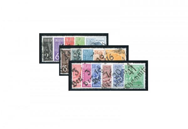 Briefmarken SBZ 1946 Michel Nr. 166-81 (ohne 179) Bezirk 16 postfrisch geprüft