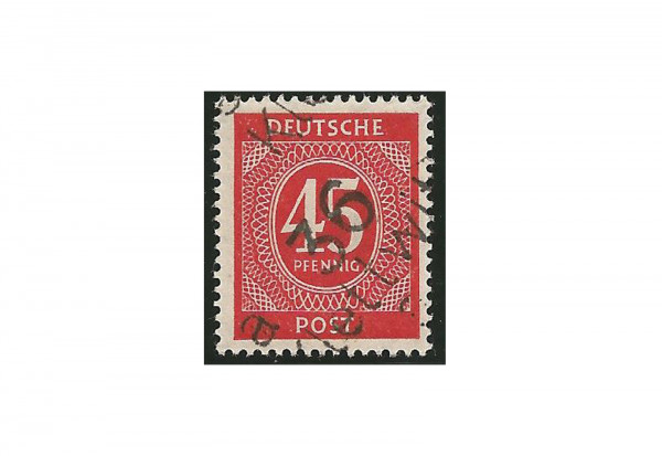 SBZ Bezirkshandstempel - Ziffernausgaben 1948 Michel Nr. I s gestempelt geprüft