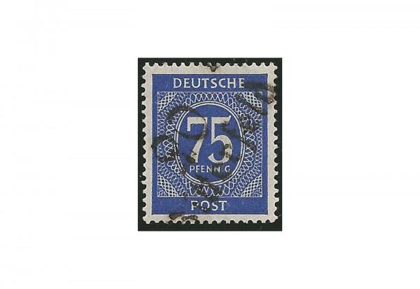 SBZ Bezirkshandstempel - Zifferausgaben 1948 Michel Nr. I v gestempelt geprüft