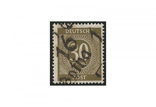 SBZ Bezirkshandstempel - Ziffernausgaben 1948 Michel Nr. I w postfrisch geprüft