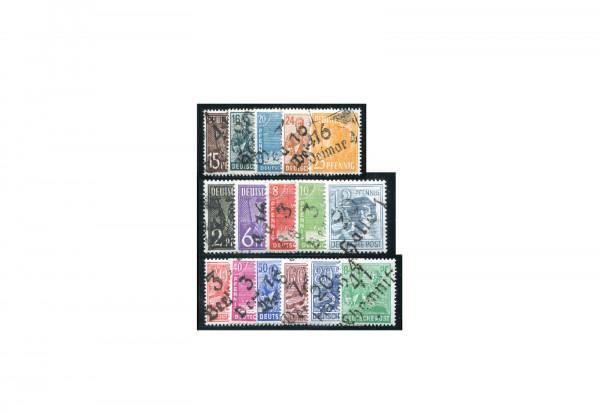 Briefmarken SBZ Freimarken 1948 Michel-Nr. 166-181 ohne 179 Bezirk 27 postfrisch geprüft