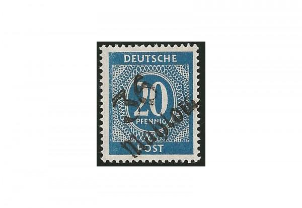 SBZ Bezirkshandstempel - Ziffernausgaben 1948 Michel Nr. I k gestempelt geprüft