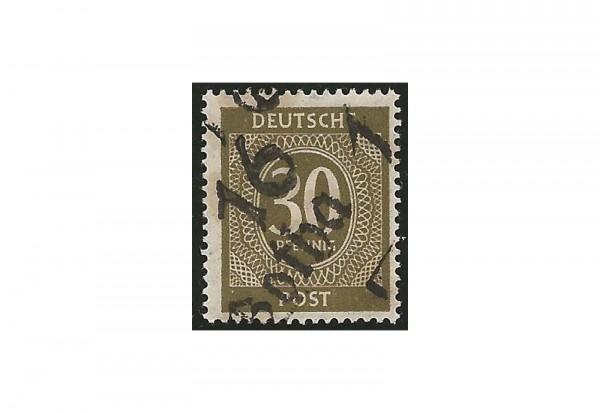 SBZ Bezirkshandstempel - Ziffernausgaben 1948 Michel Nr. I w gestempelt geprüft