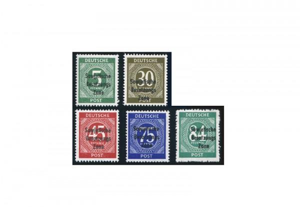SBZ Michel 207 bis 211 postfrisch