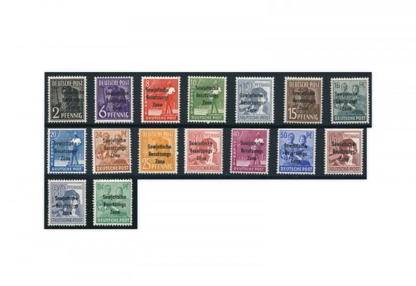 SBZ Michel-Nr. 182/197 postfrisch ohne Michel-Nr. 195