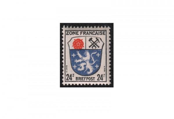 Französische Zone Wappen und Dichter 1945 Allgemeine Ausgabe Michel Nr. 9 bx postfrisch und geprüft