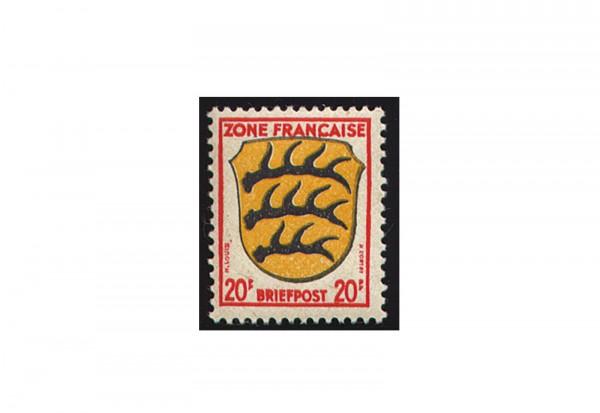 Briefmarke Französische Zone Allgemeine Ausgabe Michel-Nr. 8 bx postfrisch und geprüft