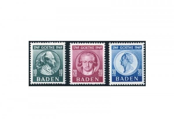 Briefmarken Französische Zone Baden 1949 Michel-Nr. 47/49 postfrisch