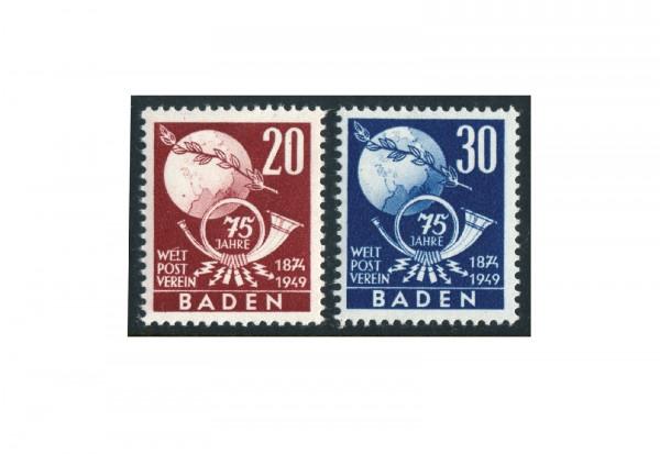 Baden Mi.Nr. 56/57 postfrisch