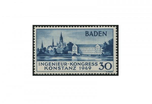 Französische Zone Ingenieur-Kongress 1949 Baden Michel Nr. 46 II postfrisch und geprüft