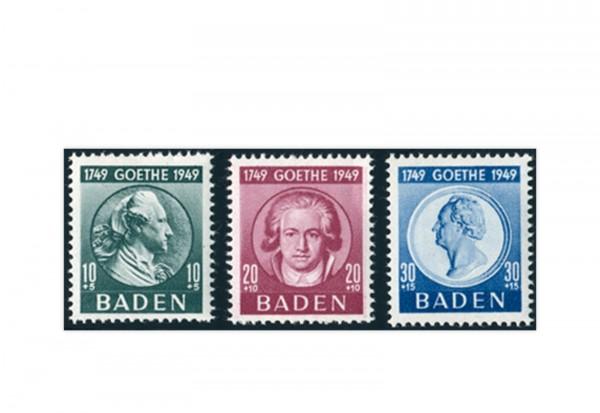 Französische Zone: Baden Mi.Nr. 47/49 gestempelt