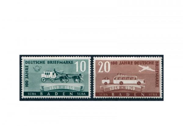 Französische Zone: Baden Mi.Nr. 54/55 gestempelt