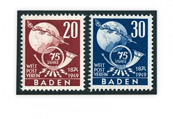 Briefmarken Französische Zone Baden 1949 Michel-Nr. 56/57 gestempelt