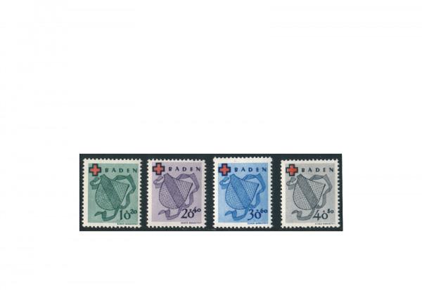 Briefmarken Französische Zone Baden Michel-Nr. 42-45 A gestempelt