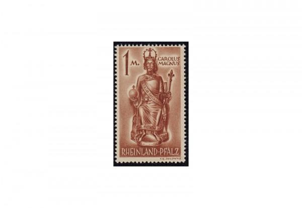 Briefmarke französische Zone/Rheinland Pfalz Karl der Große 1945 Michel-Nr. 15 xw postfrisch