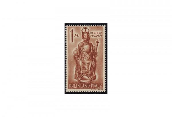 Briefmarke französische Zone/Rheinland Pfalz Karl der Große 1945 Michel-Nr. 15 xv postfrisch