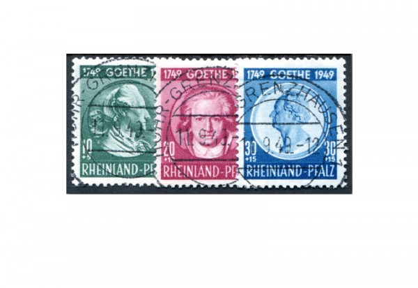 Rheinland Pfalz Mi.Nr. 46/48 gestempelt