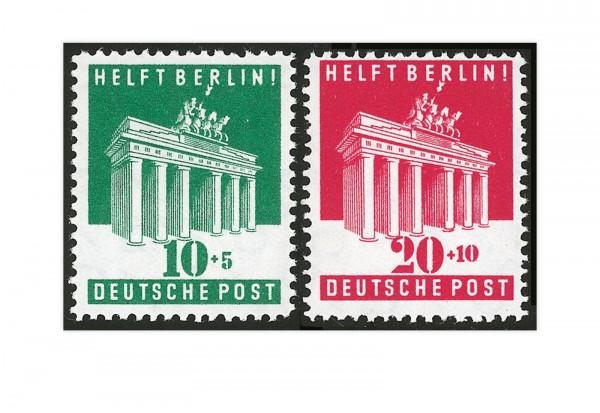Bizone Michel-Nr. 101/102 postfrisch Brandenburger Tor 1948