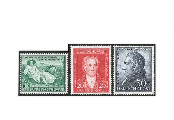Bizone Michel-Nr. 108/110 postfrisch Goethe