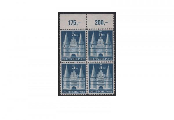 Bizone Bautenserie 1948 Michel Nr. 100 1/1c postfrisch Viererblock
