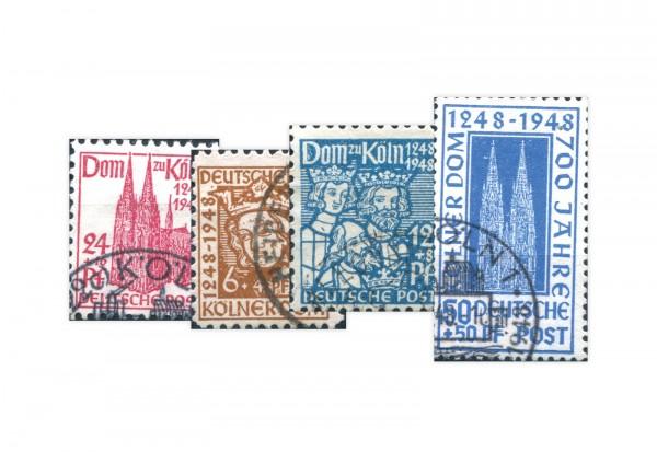 Bizone Michel-Nr. 69/72 gestempelt Kölner Dom