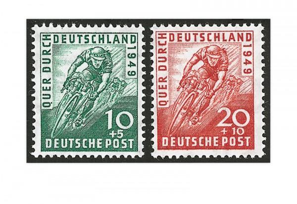 Bizone Radrennen 1949 Michel-Nr. 106/107 gestempelt
