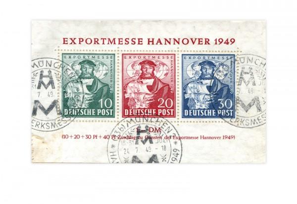 Bizone Exportmesse Hannover Block 1 a gestempelt (SST)