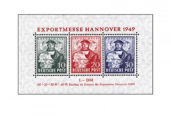 Bizone Block 1 b postfrisch FA Exportmesse Hannover