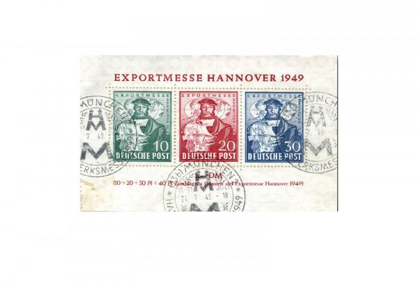 Bizone Exportmesse Hannover 1949 Block 1 b gestempelt FA