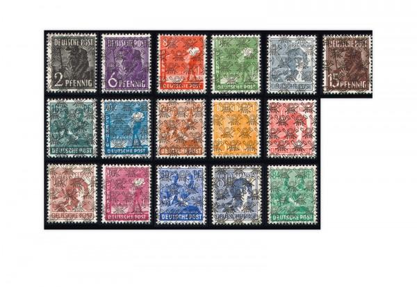 Bizone Mi.Nr. 36/51 II postfrisch Netzaufdruck 16 Werte