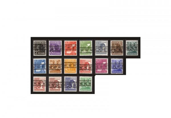Briefmarken Bizone Michel-Nr. 36/51 I gestempelt ohne 49 I Bandaufdruck