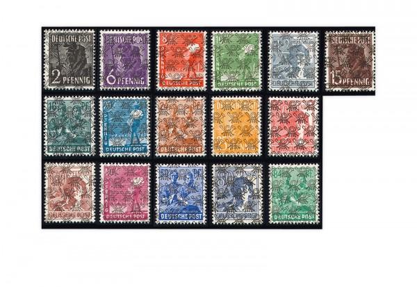 Alliierte Besetzung Bizone 1948 Mi.Nr. 36/51 I gestempelt