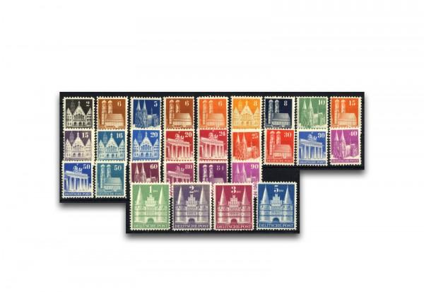 Alliierte Besetzung: Bizone 1948 Michel-Nr. 73/100 I wg gestempelt