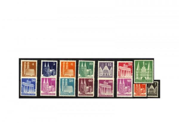Alliierte Besetzung: Bizone 1948 Michel-Nr. 73/97 II eg gestempelt