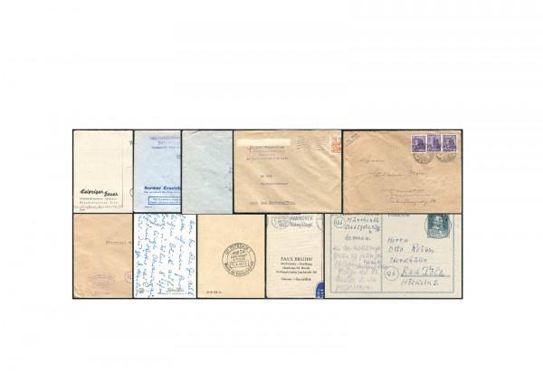 10 Belege 1946-1949 Gemeinschaftsausgaben