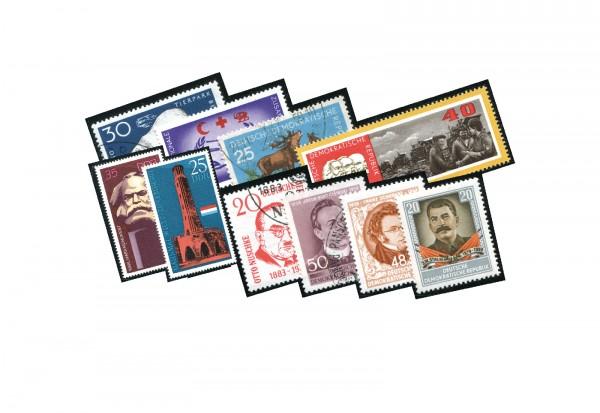 Briefmarken DDR 300 verschiedene Marken postfrisch gestempelt