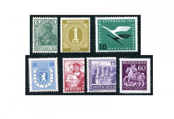 DDR Einzelblockmarken 25 verschiedene Marken postfrisch unf gestempelt
