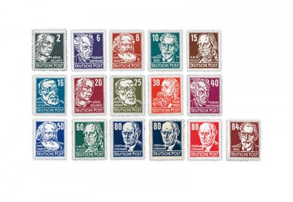 Briefmarken DDR Freimarkenserie 1952-1953 Michel 327-341 postfrisch